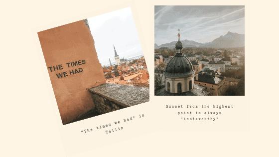 View points in Tallinn and Salzburg