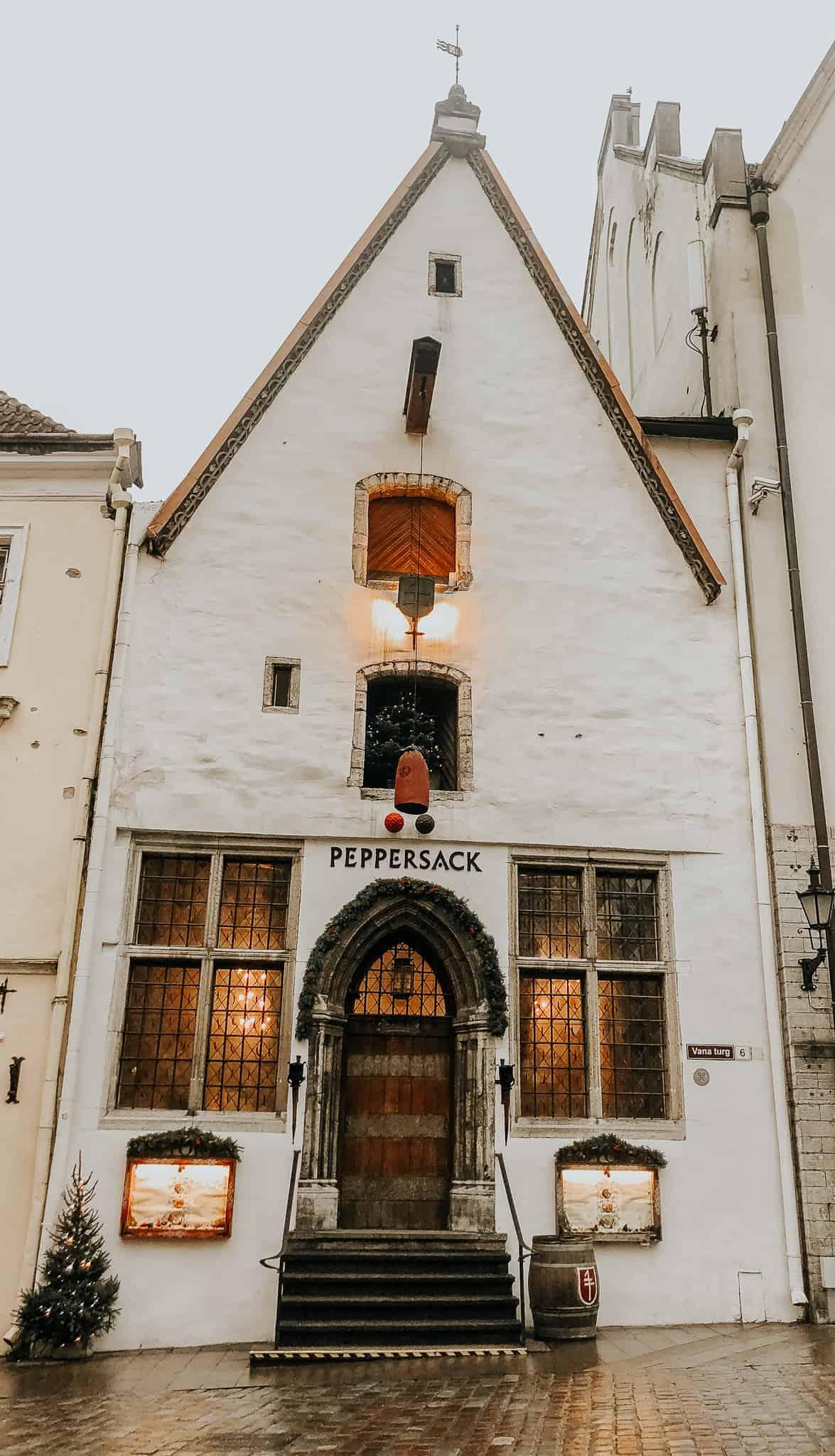 Local restaurant in Tallinn, The Pepper Sack