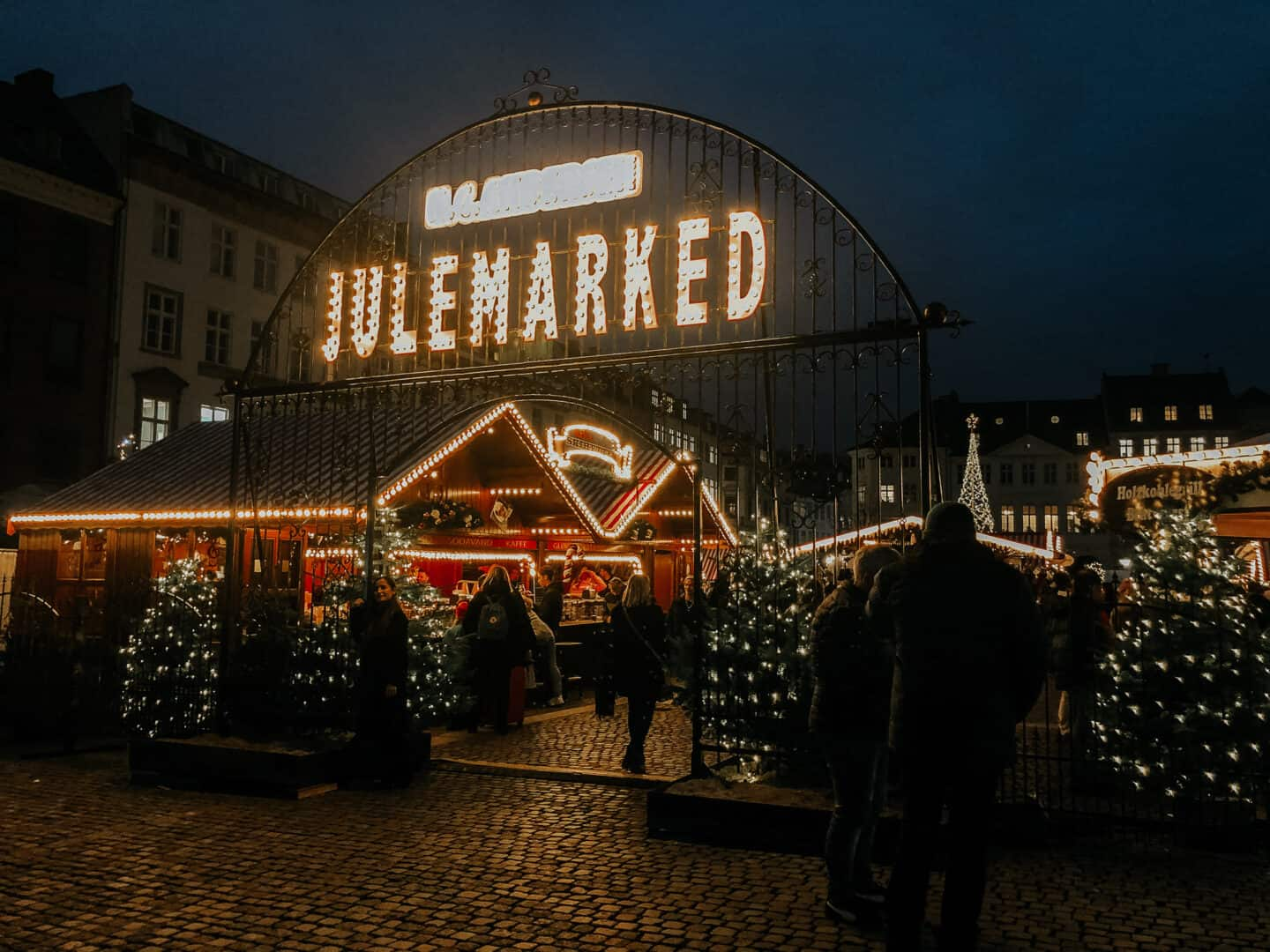 Enterance to the Julemarked in Copenhagen
