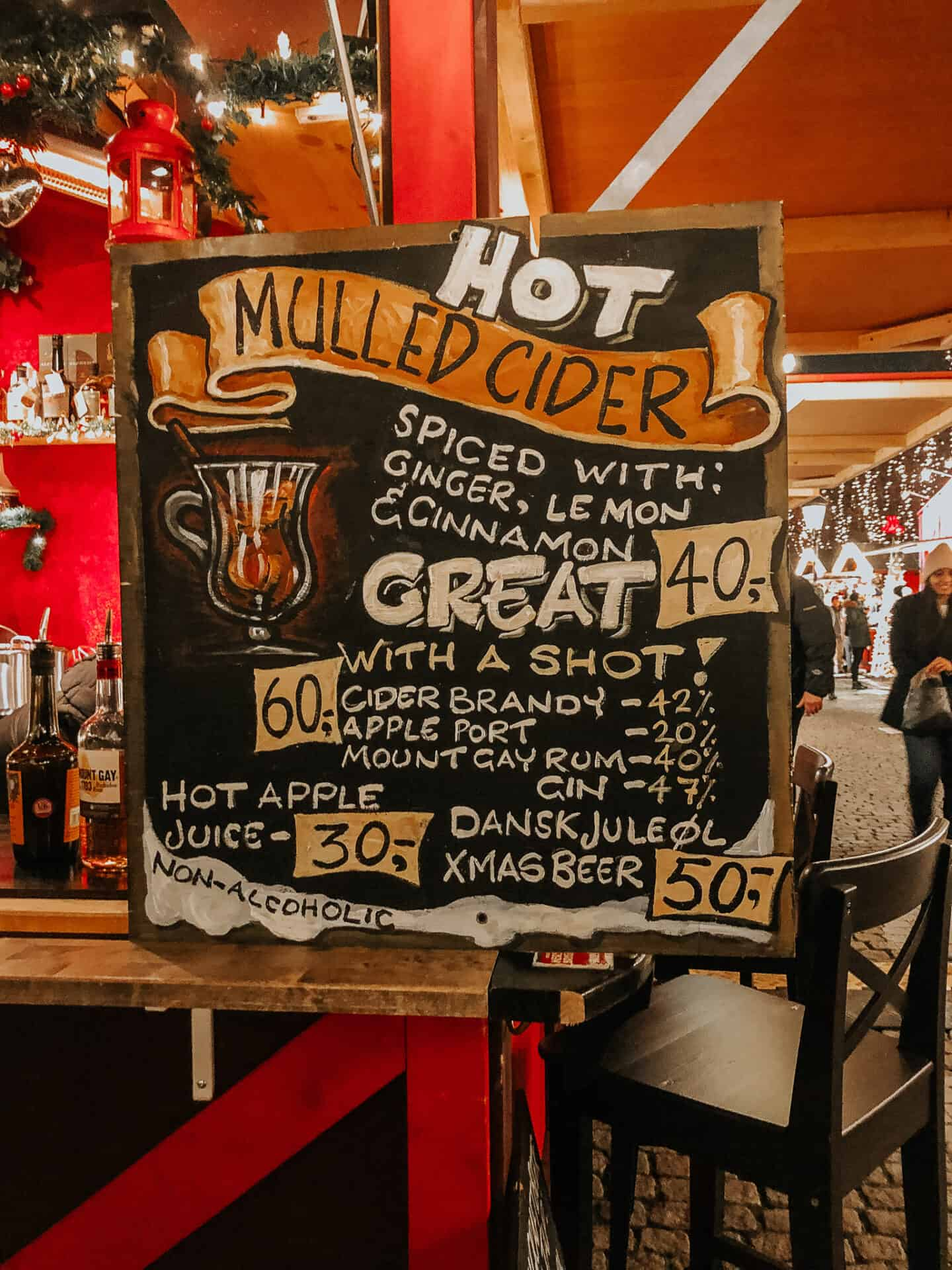 Hot Mulled Cider menu board