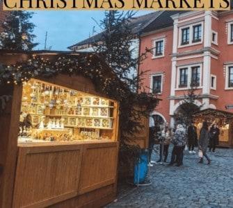 Christmas market hut in Cesky Krumlov