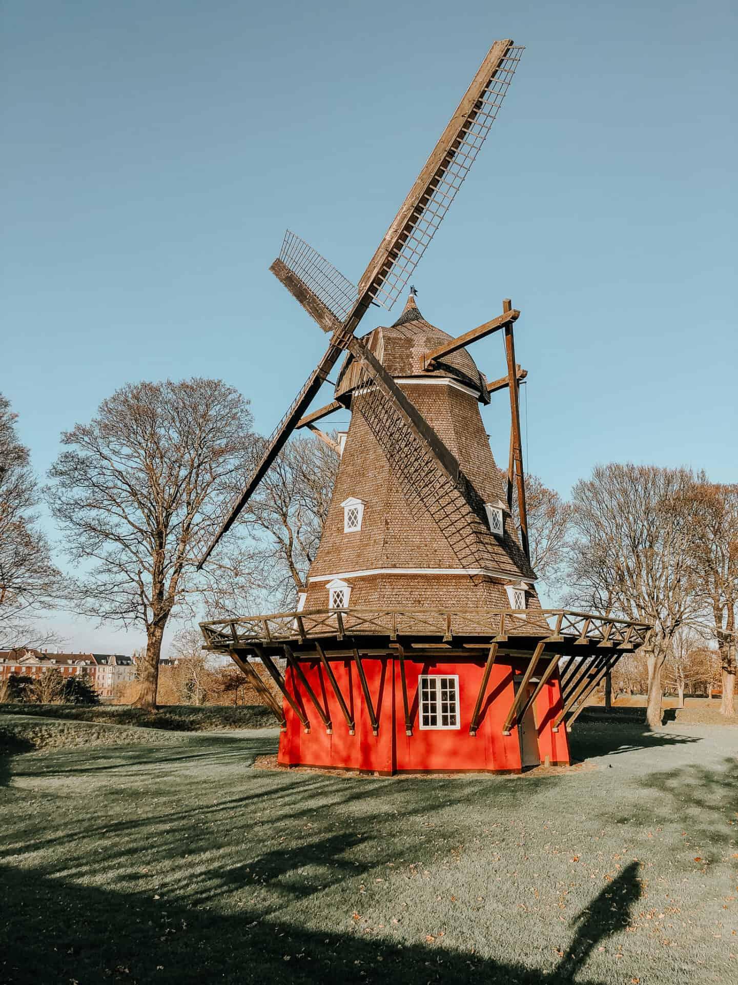 Windmill standing in a field