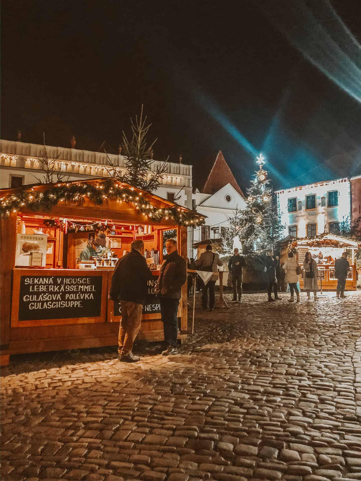 Christmas market in Cesky Krumlov