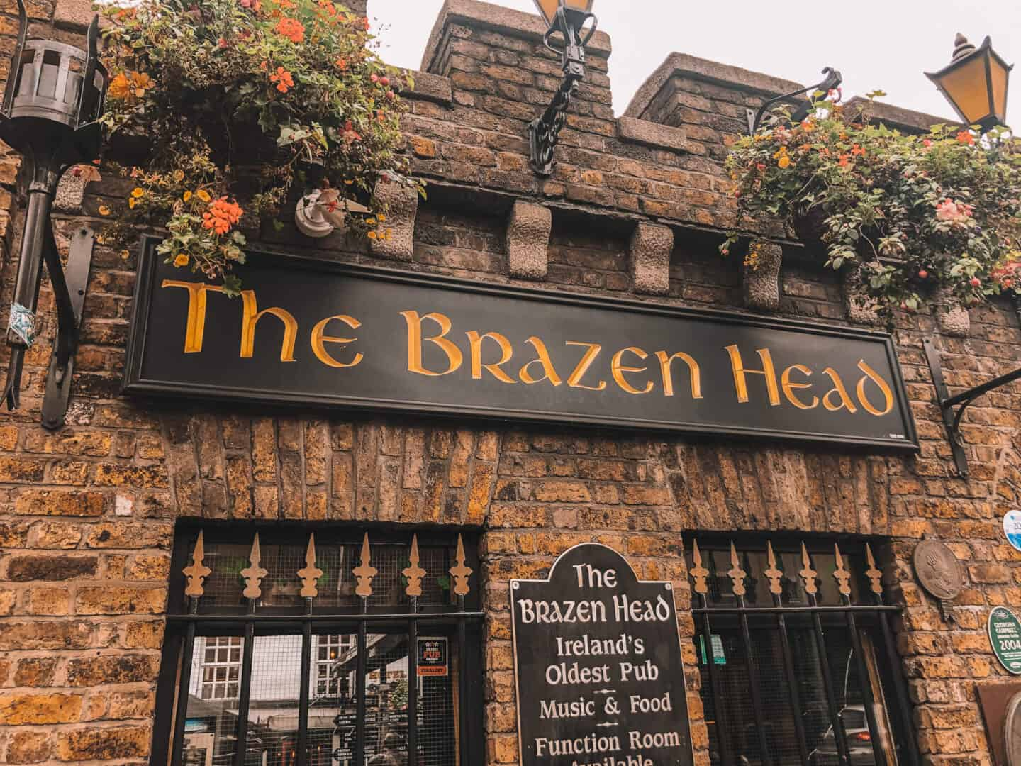 "A sign on an old pub ""The Brazen Head"""