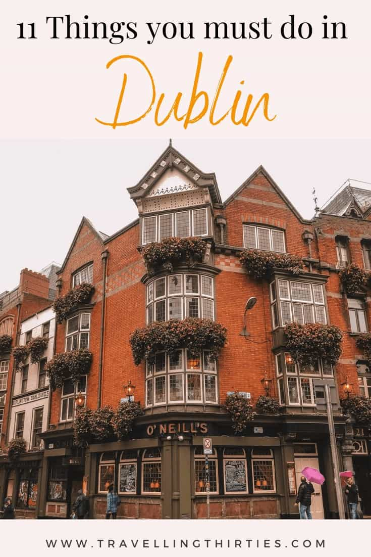 Things you must do in Dublin Pinterest Graphic