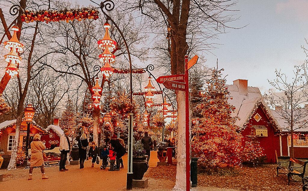 Christmas market scene, Tivoli Gardens, Copenhagen