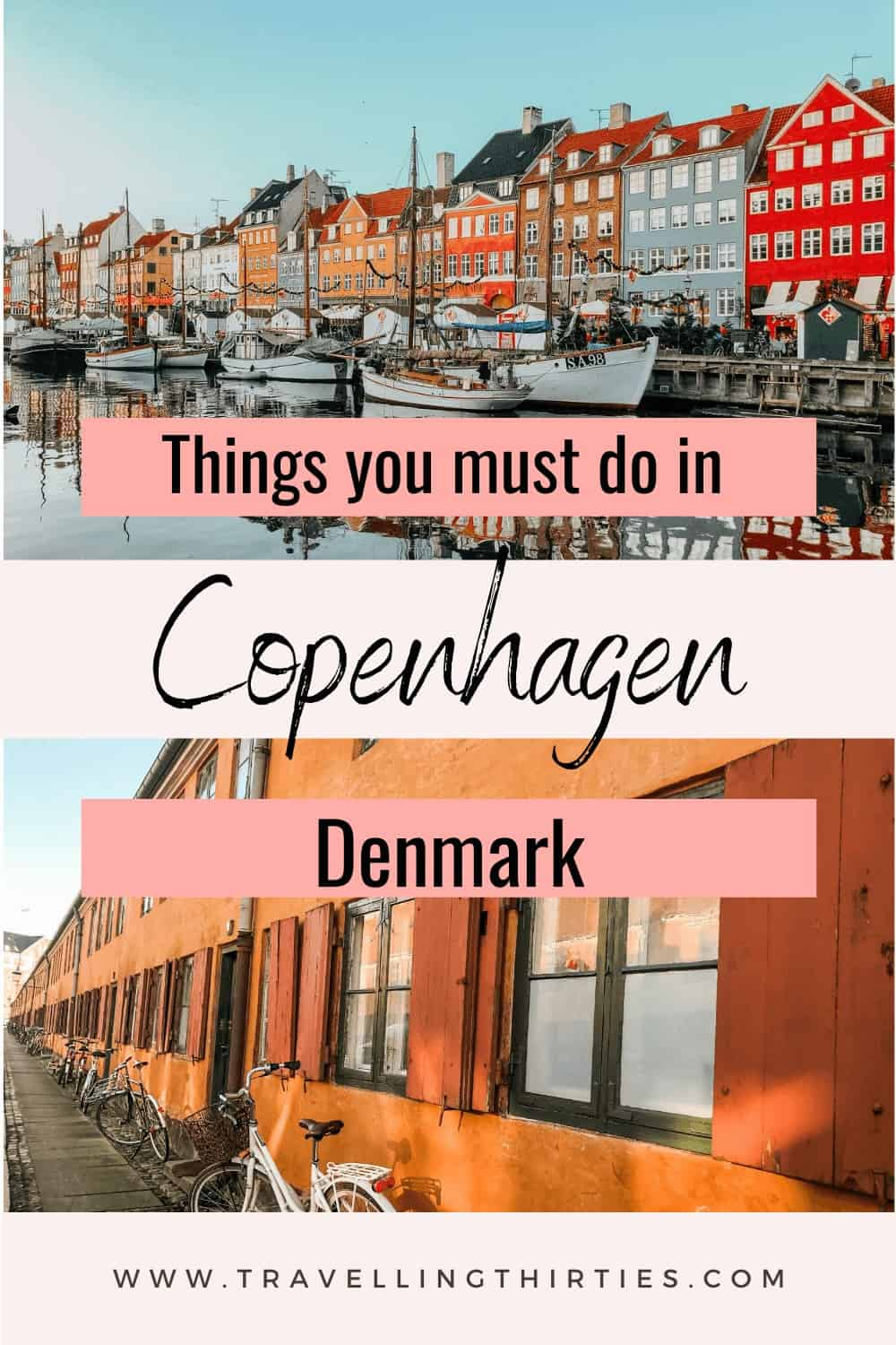 Pinterest Graphic for the top things to do in Copenhagen