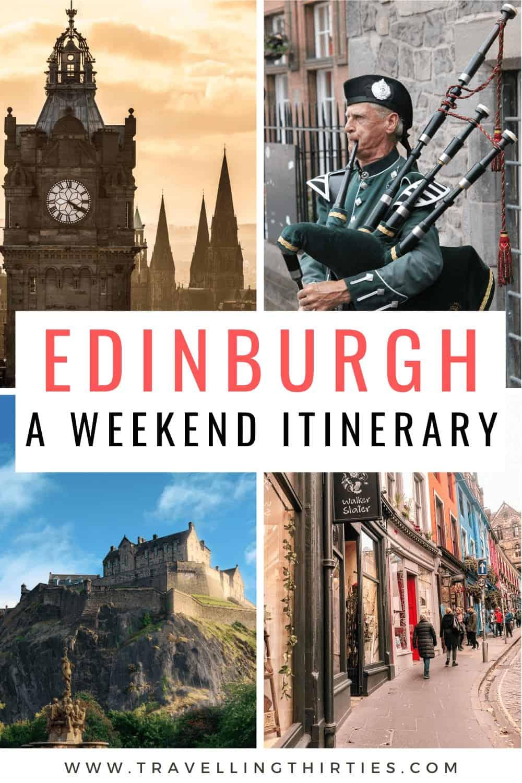 Two days in Edinburgh pinterest graphic