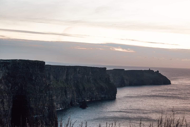 Rugged Cliffs emerging above an ocean