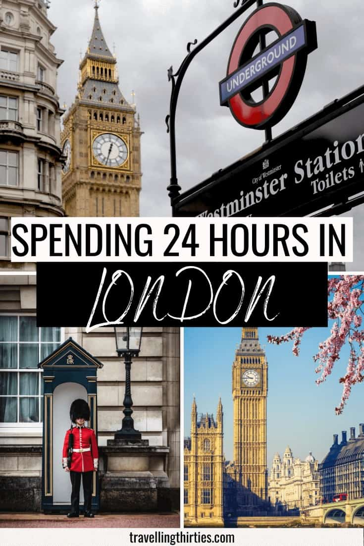 Pinterest Graphic for 24 hours in London