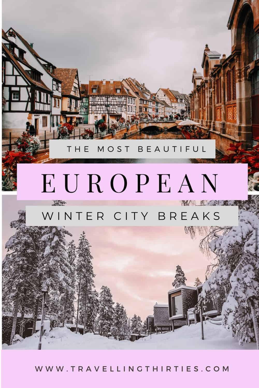 Pinterest Graphic for Winter City Breaks Europe