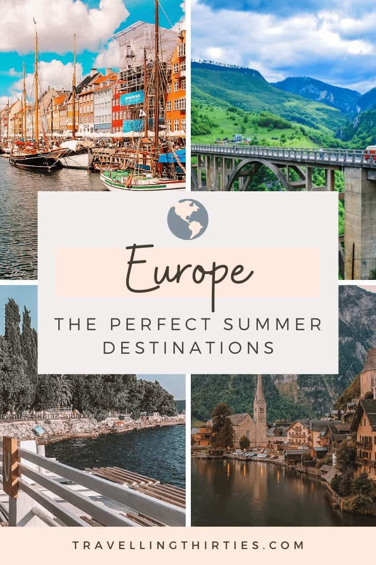 Pinterest Graphic for the Best Summer destinations in Europe
