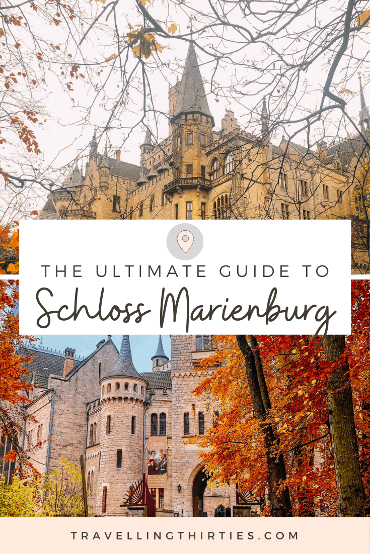 Pinterest Graphic for the ultimate guide to Schloss Marienburg