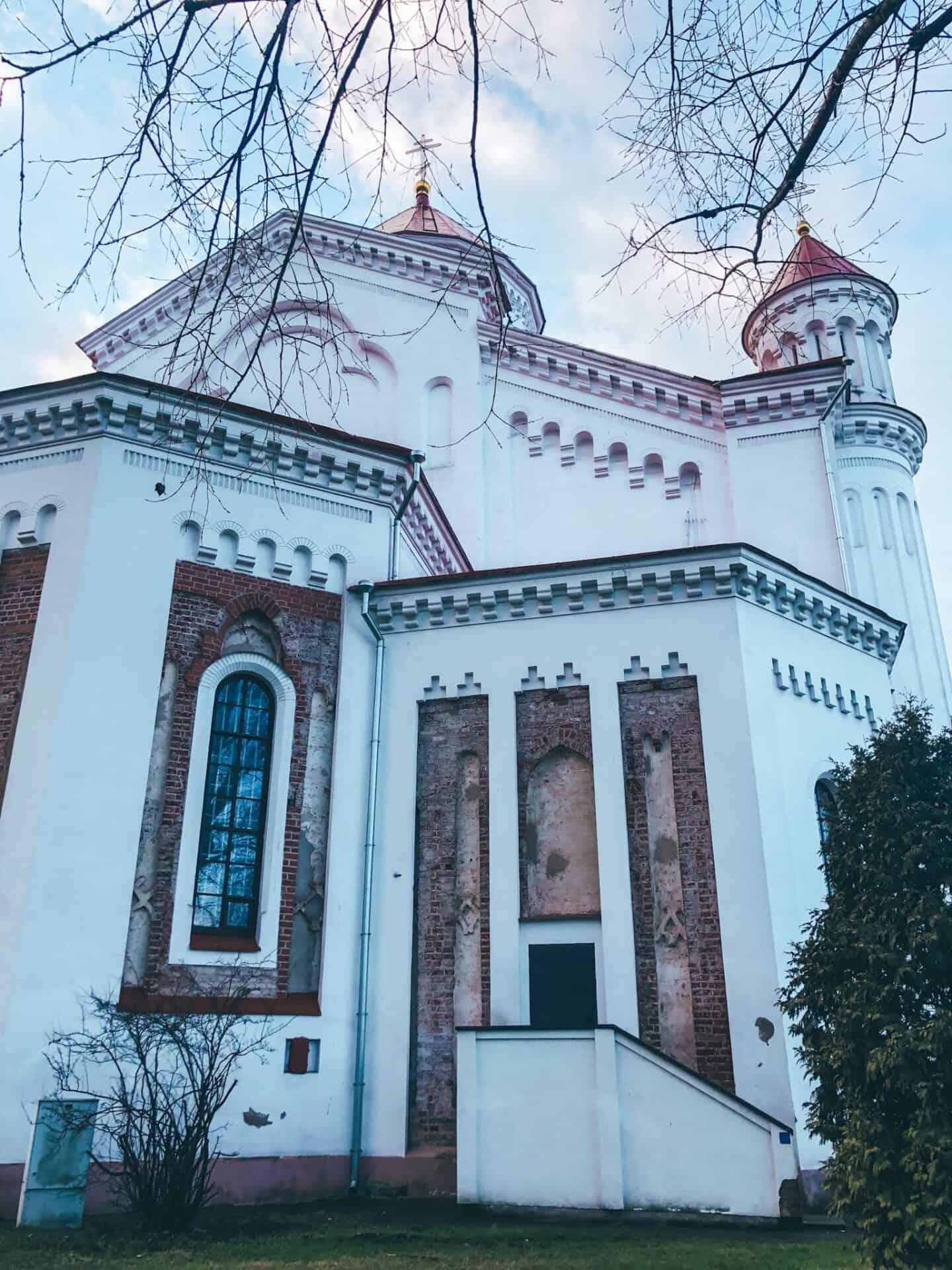 A white church