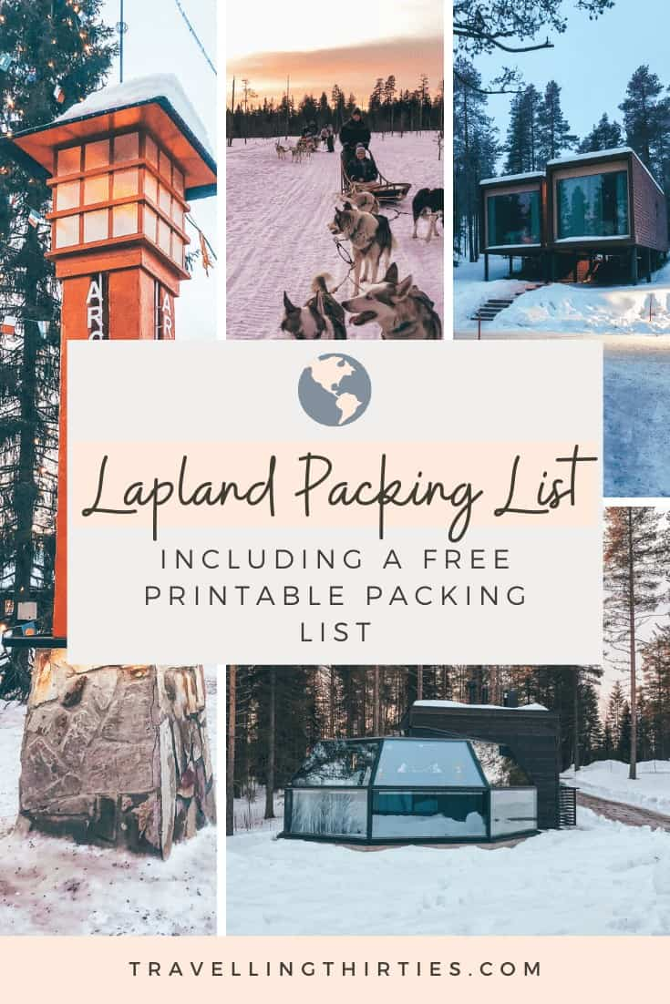 Pinterest Graphic for the Lapland Packing List