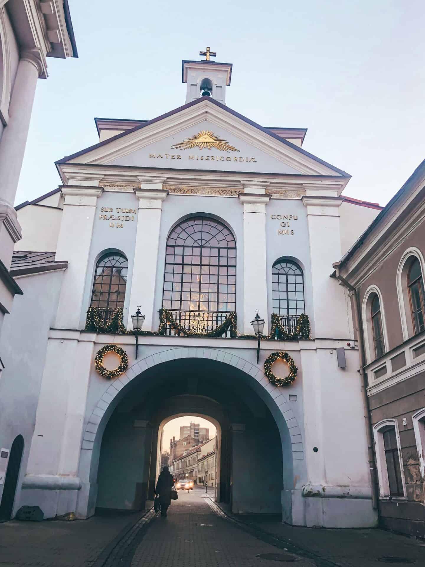 A medieval city gate