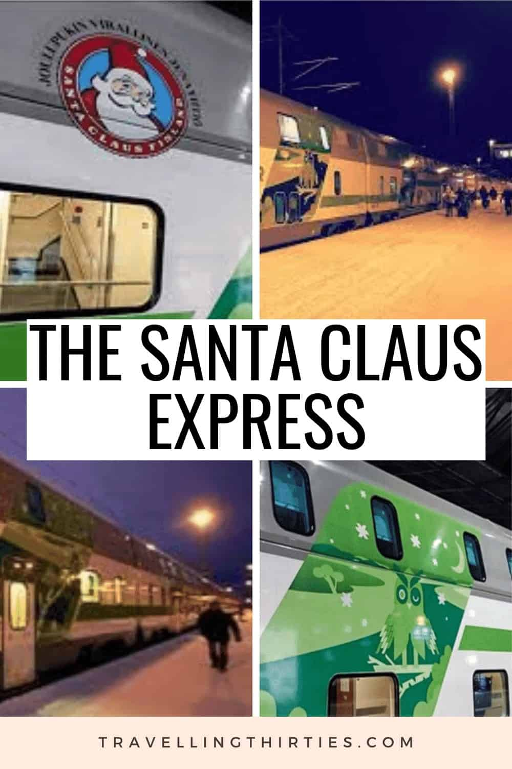 A pinterest Graphic for the Santa Claus Express Train