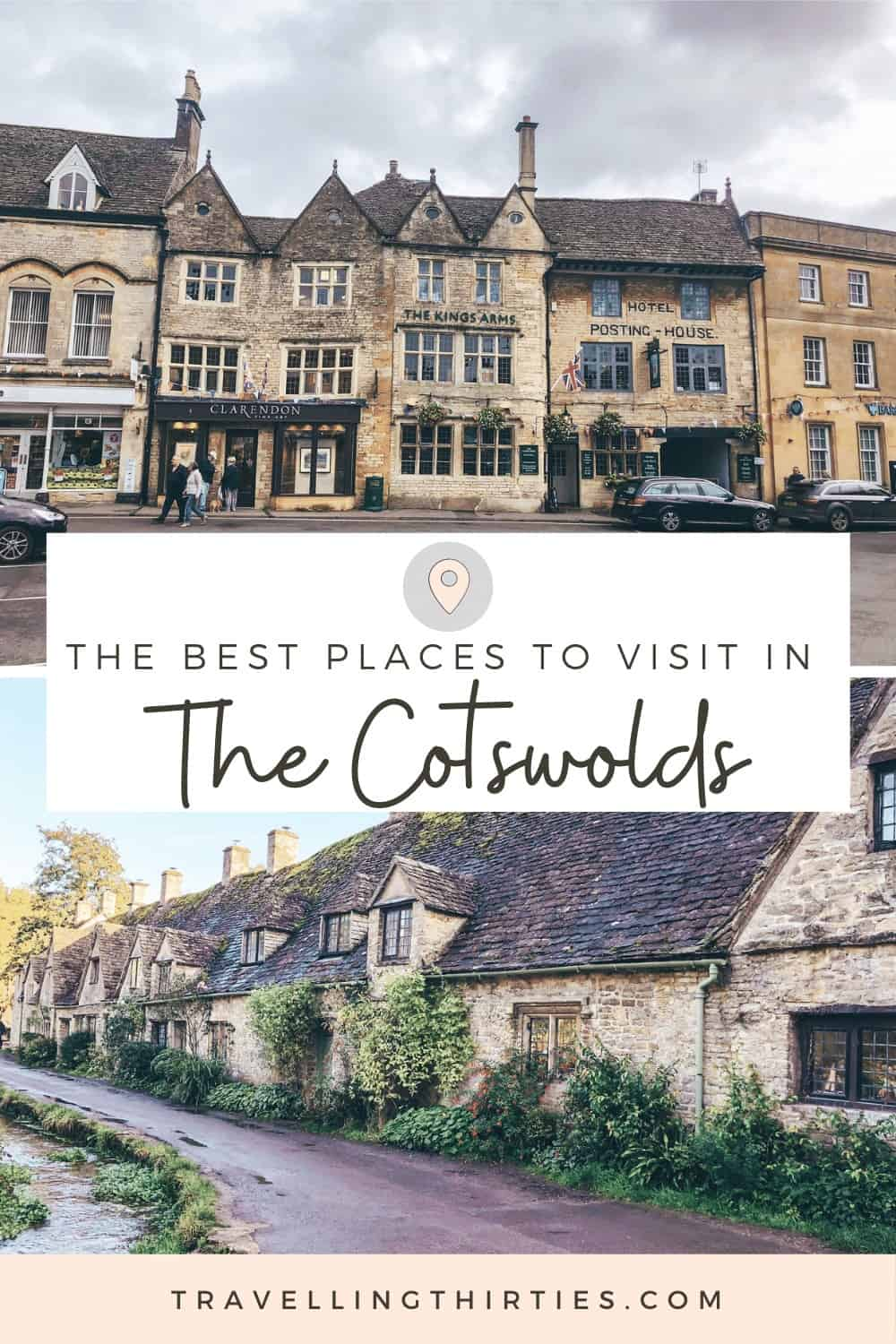 Pinterest Graphic for the best places to visit in the cotswolds