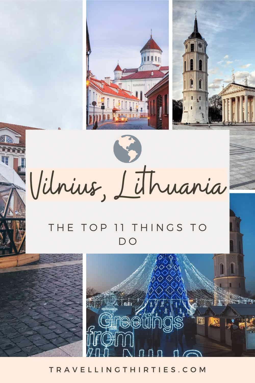 Pinterest Graphic for Vilnius Lithuania
