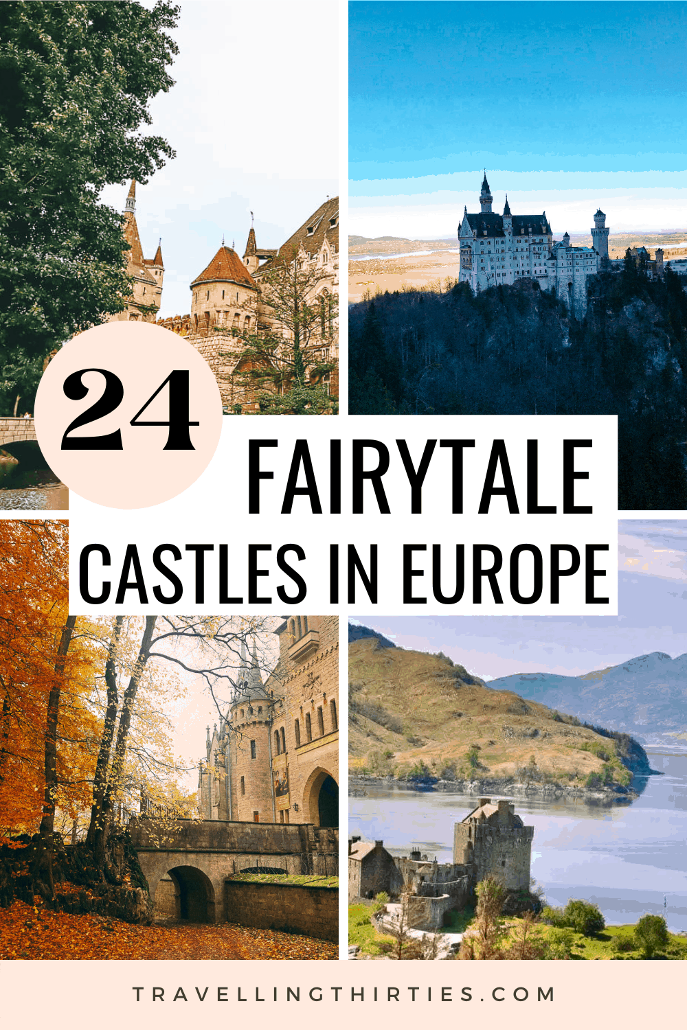Pinterest Graphic for the best castles in Europe