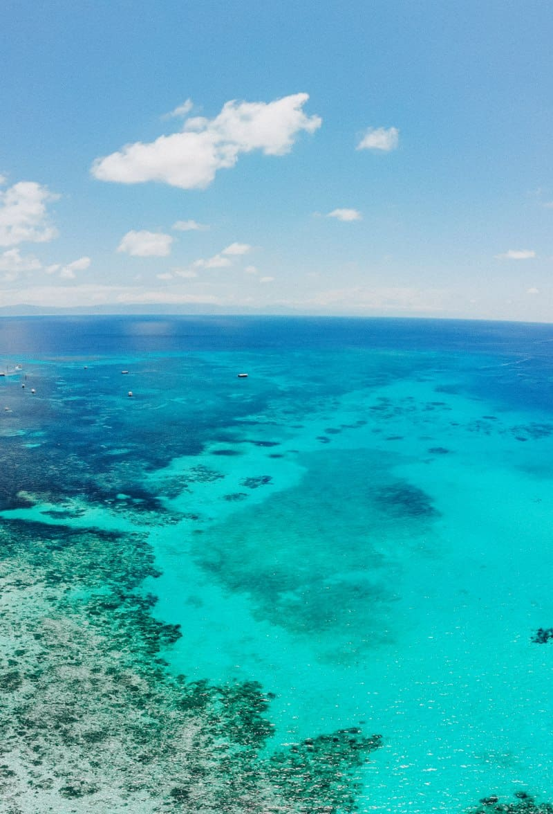 A view over the great Barrier Reef