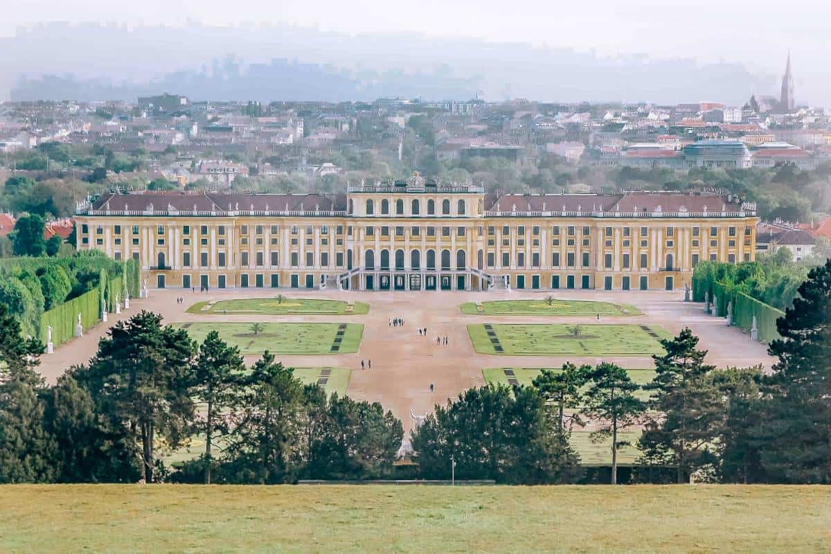 A yellow palace