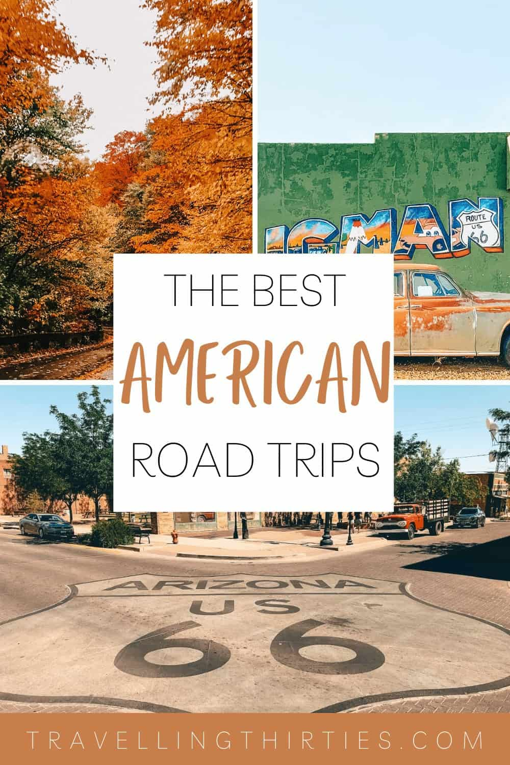 Pinterest graphic for American Road Trip Holidays