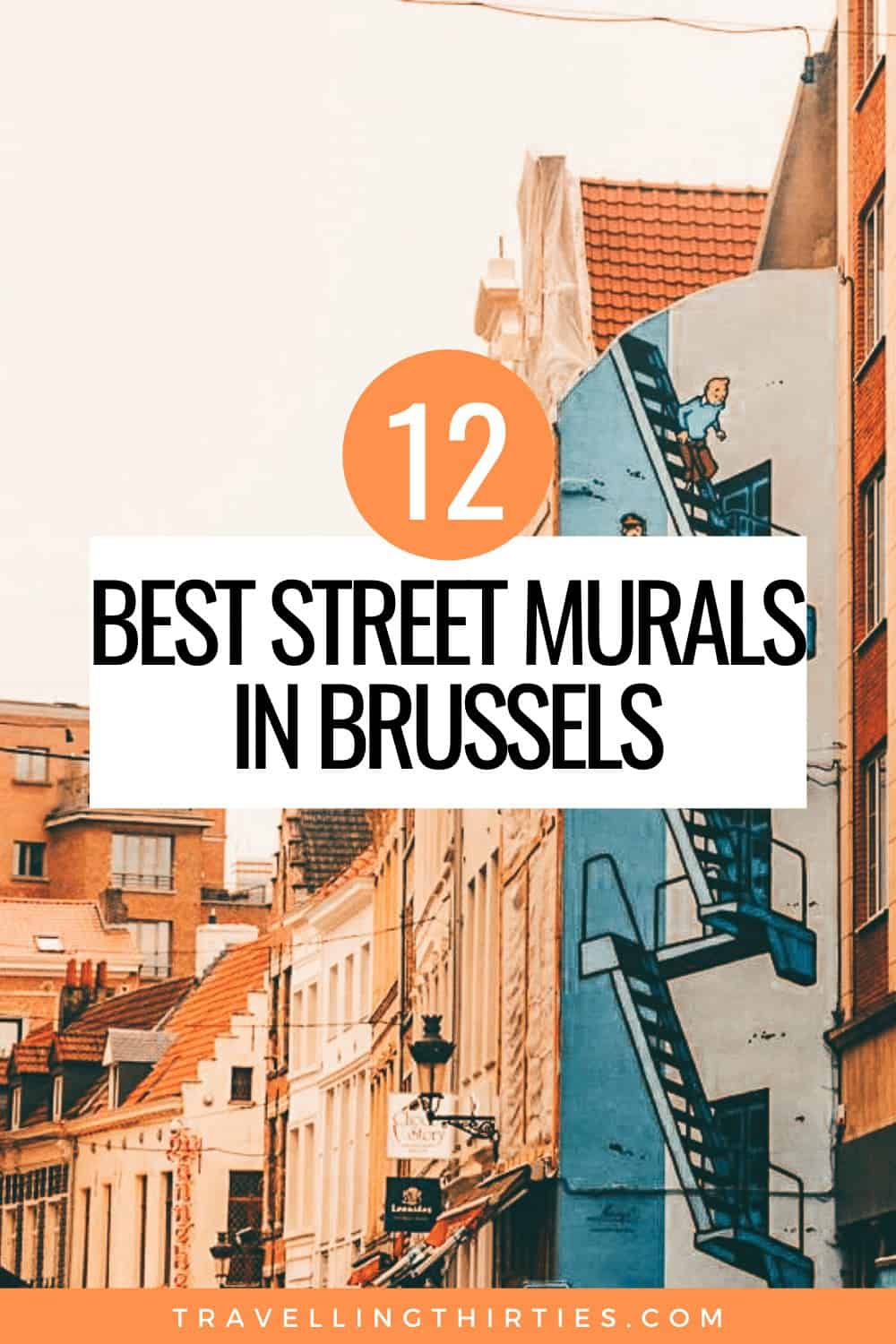 Pinterest Graphic of the Brussels Street Art