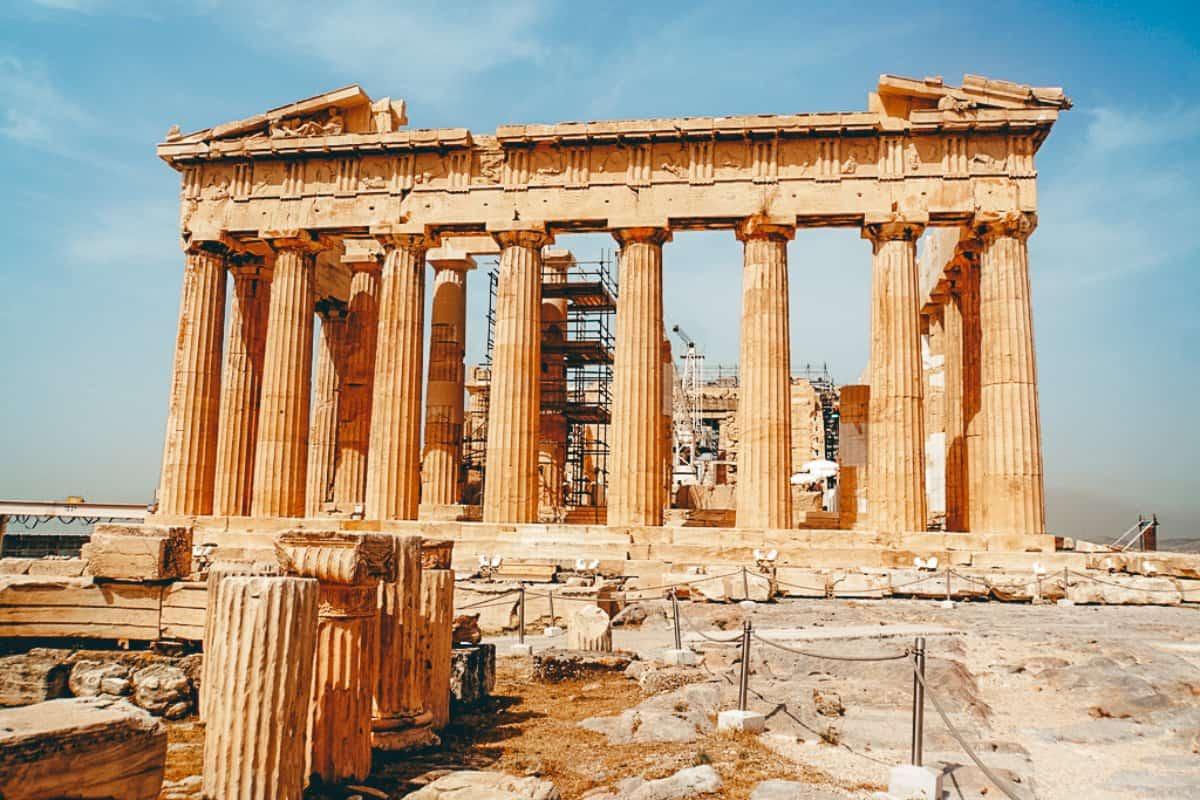 An ancient greek ruin