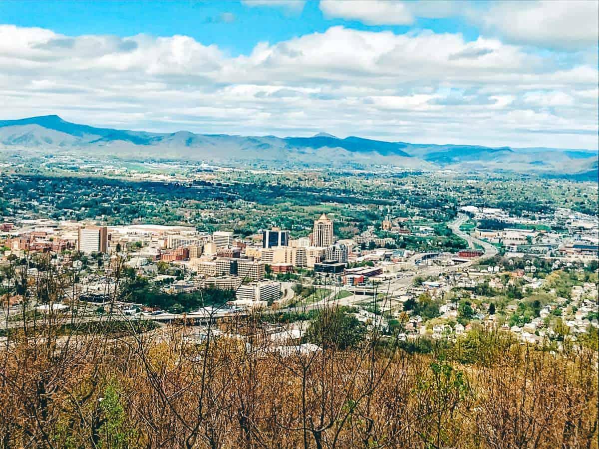 A view of Roanoke, Virginia