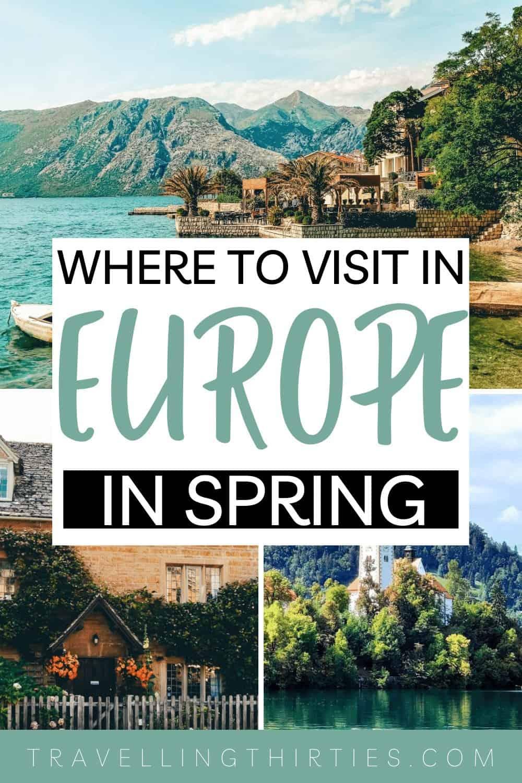 Pinterest Graphic for best spring break destiantions in Europe