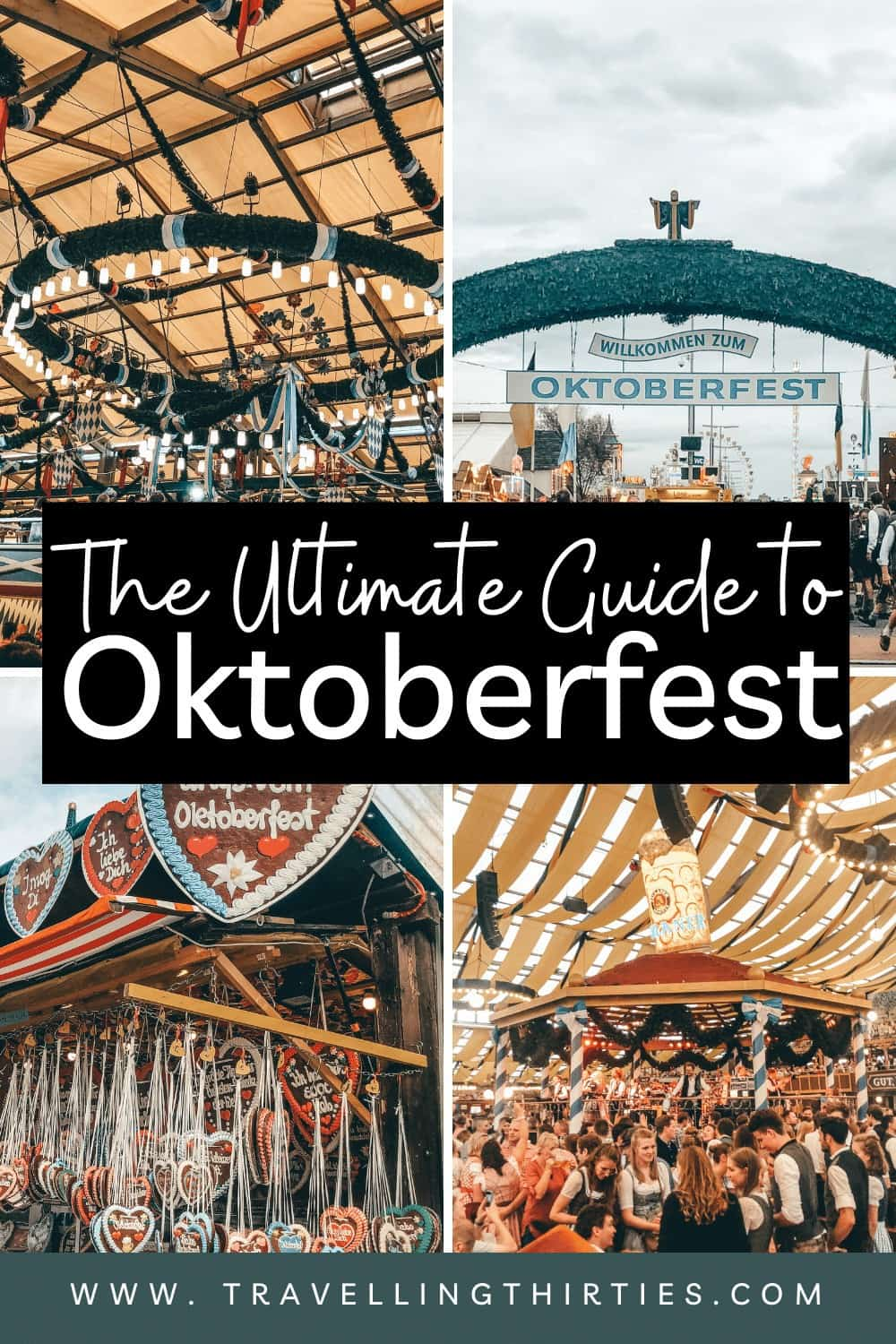 A pinterest Graphic for the first time guide to Oktoberfest