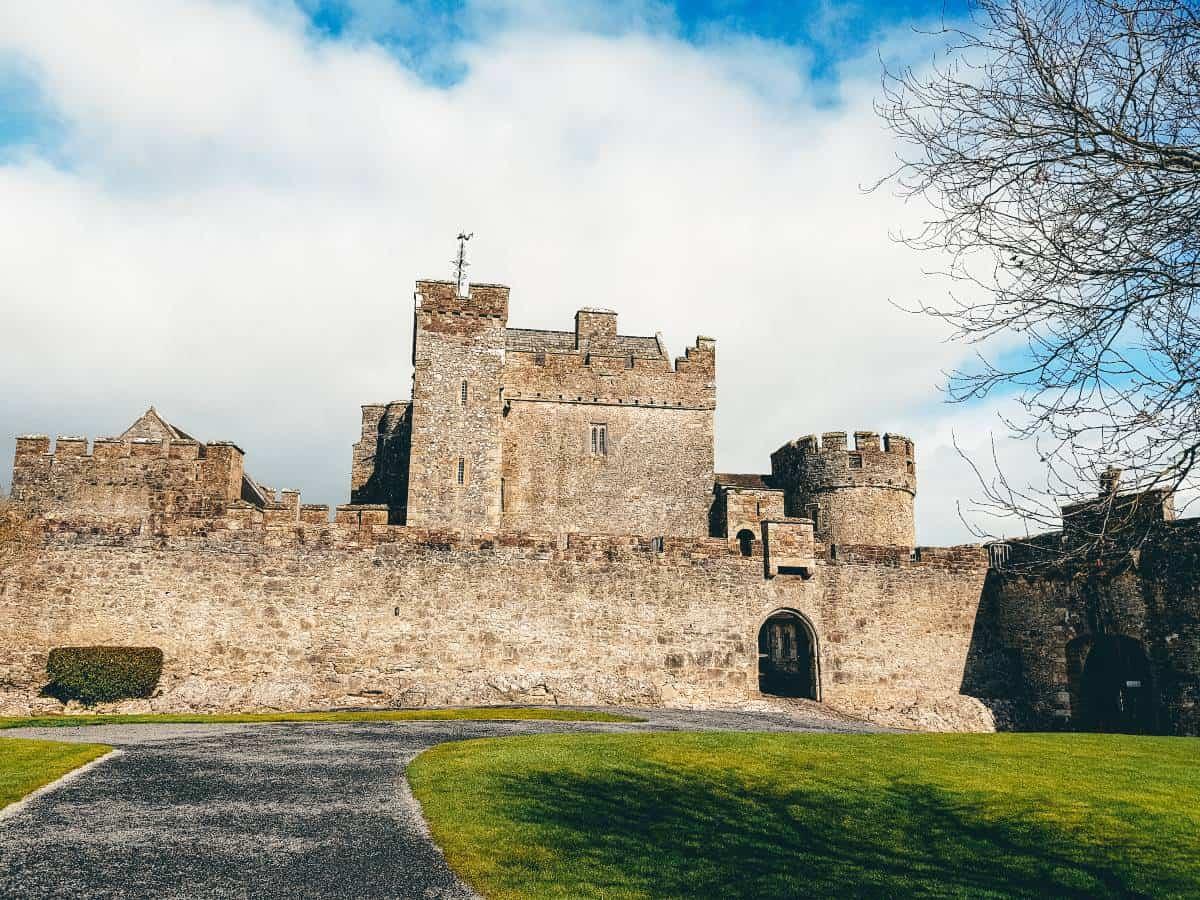 An ancient castle ruin