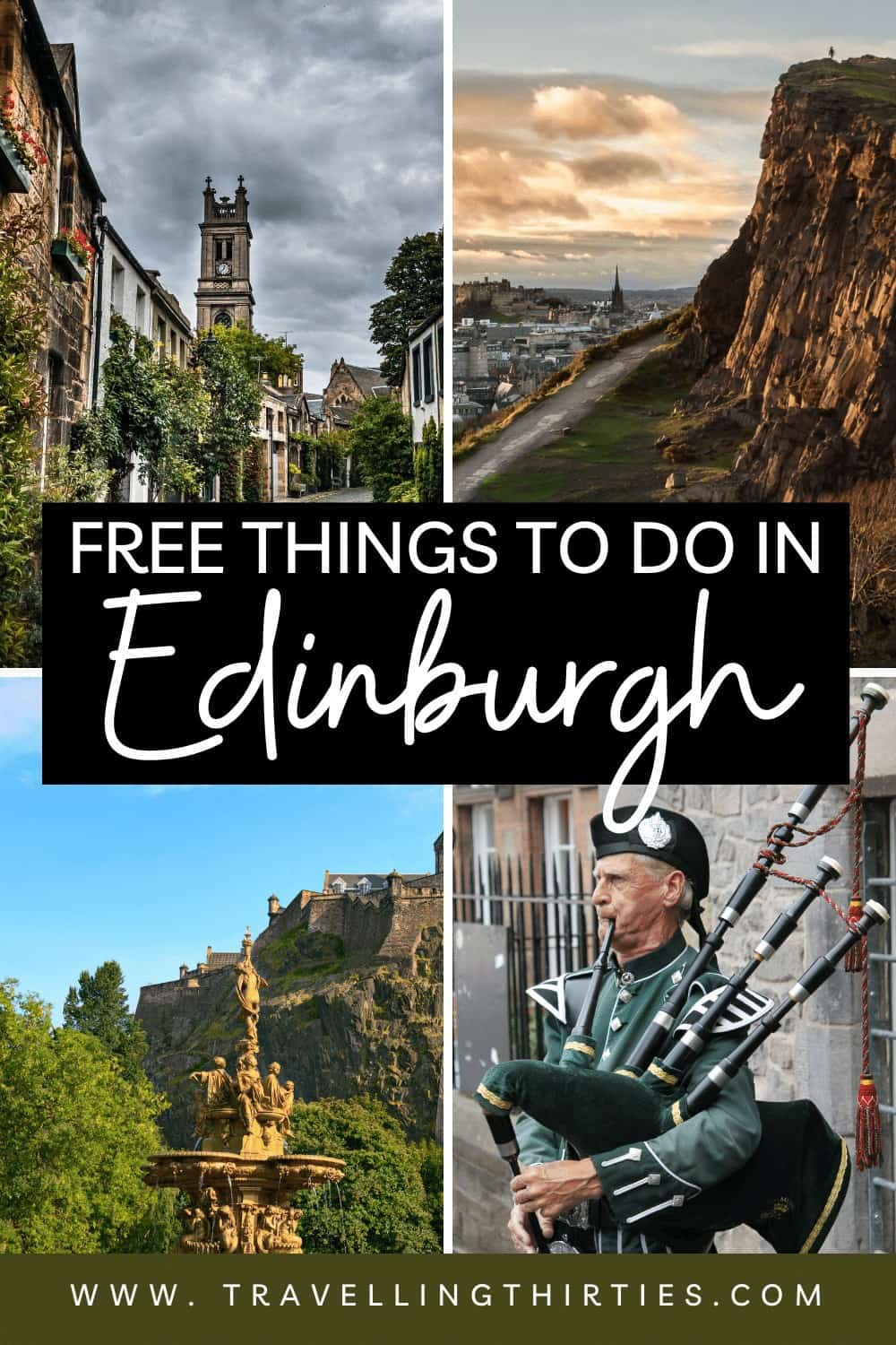 A pinterest graphic for free things to do in Edinburgh