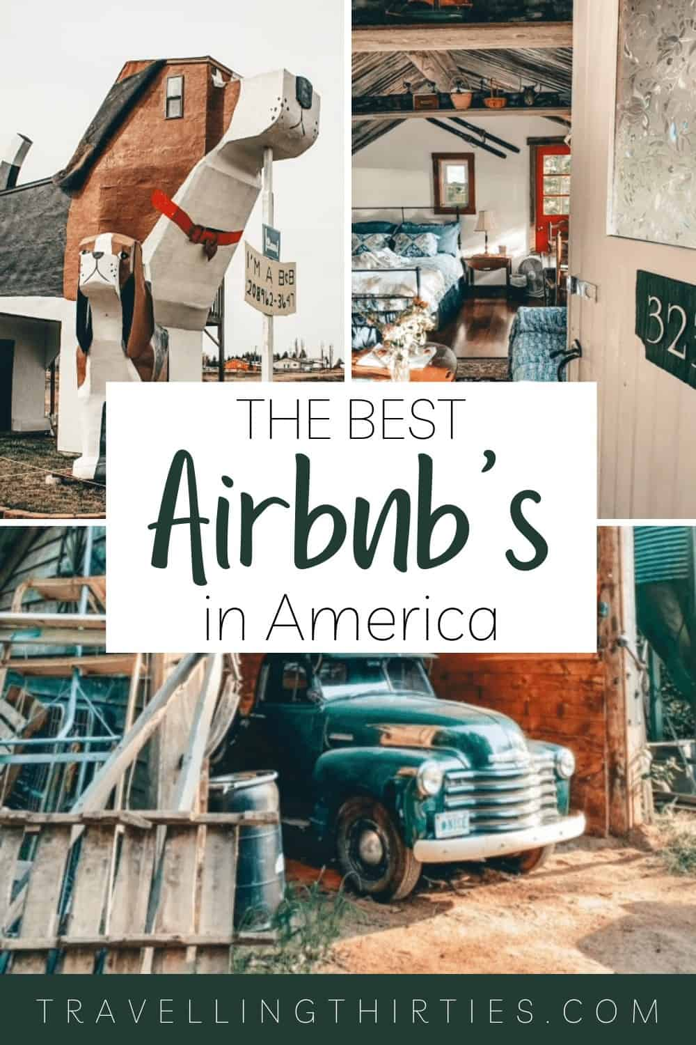 Pinterest graphic for the best airbnbs in US