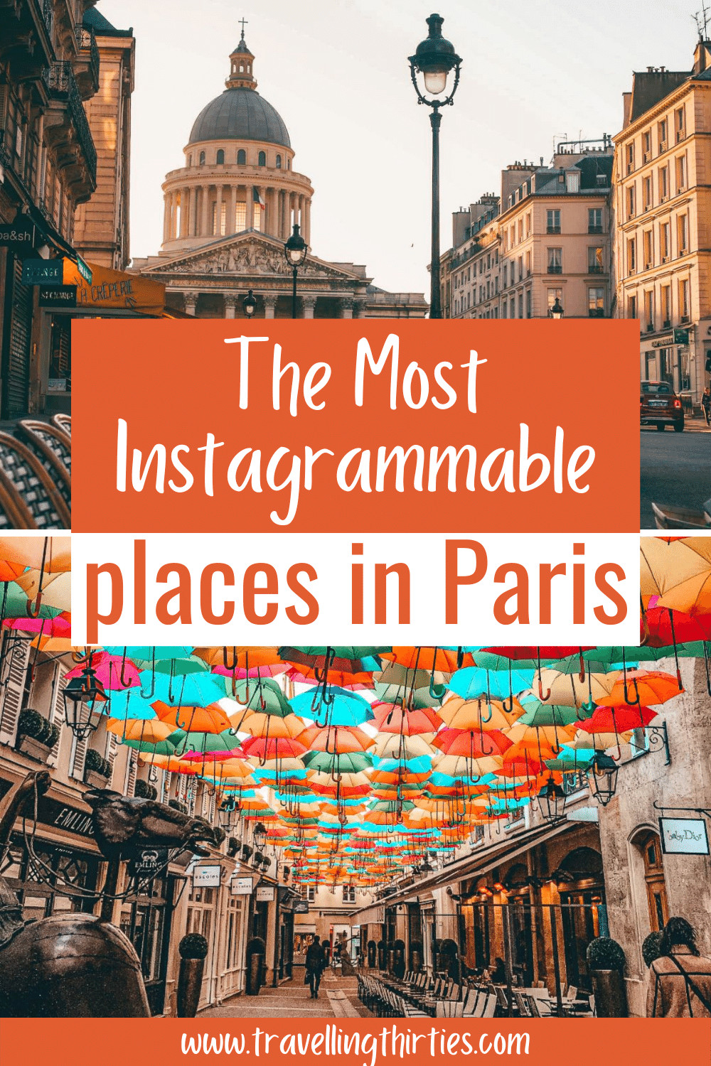 A pinterest graphic for the most instagrammable spots in Paris