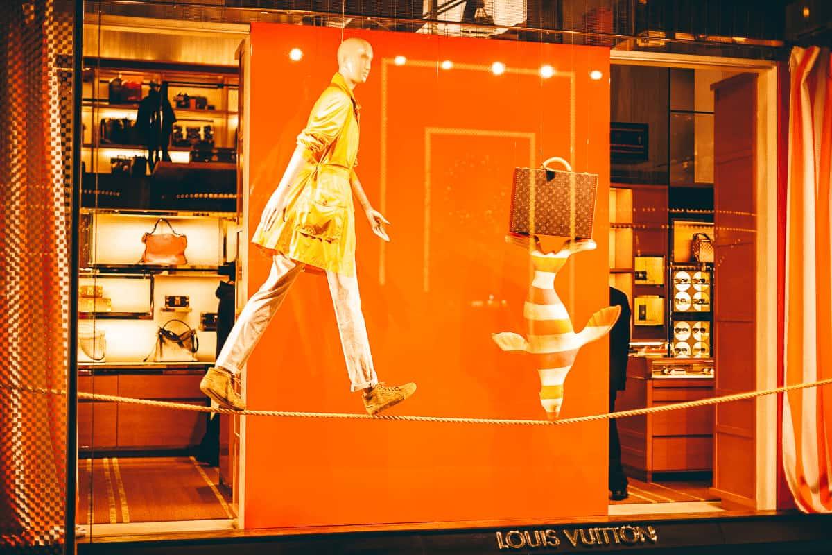 Louis Vuitton store front in Paris