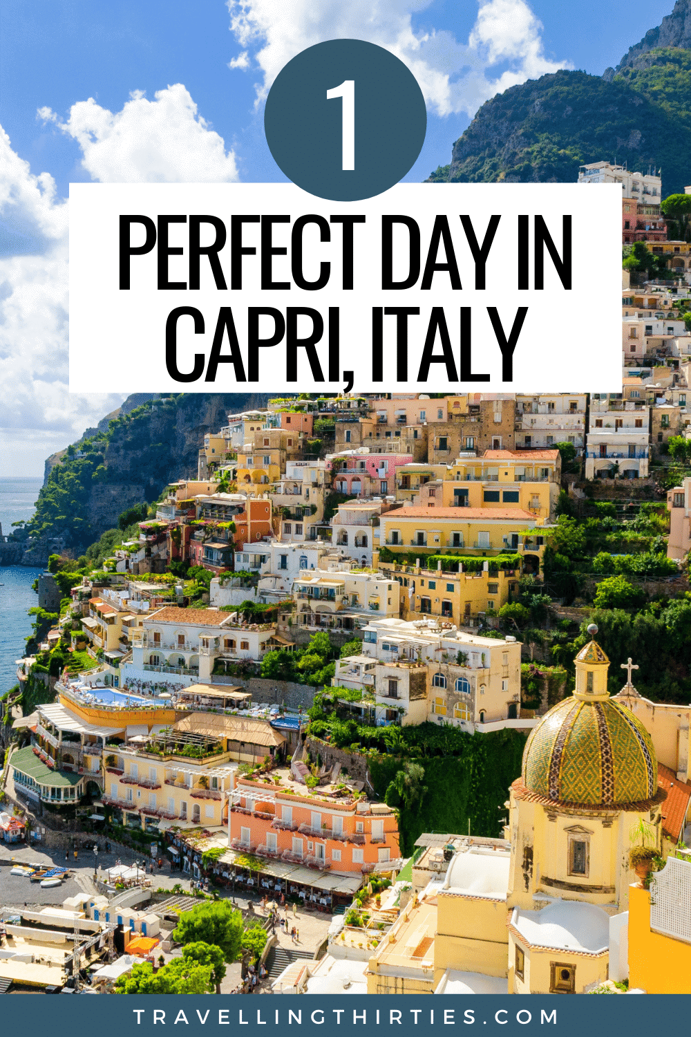 Pinterest Graphic for a day trip to Capri