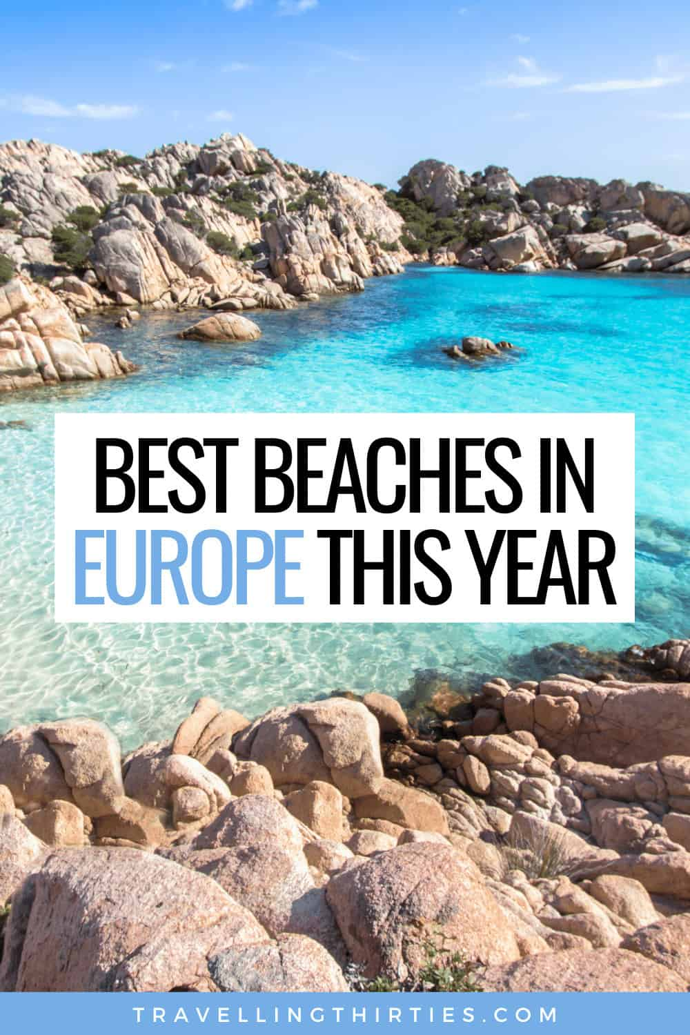 Pinterest Graphic for the Best Beach Destinations in Europe