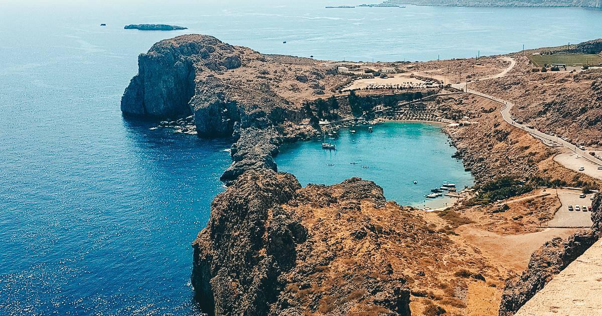 St Paul's Bay on Rhodes in Greece