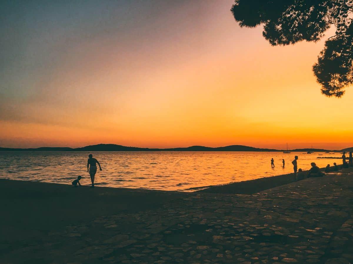 The sunsetting at Šibenik in Croatia