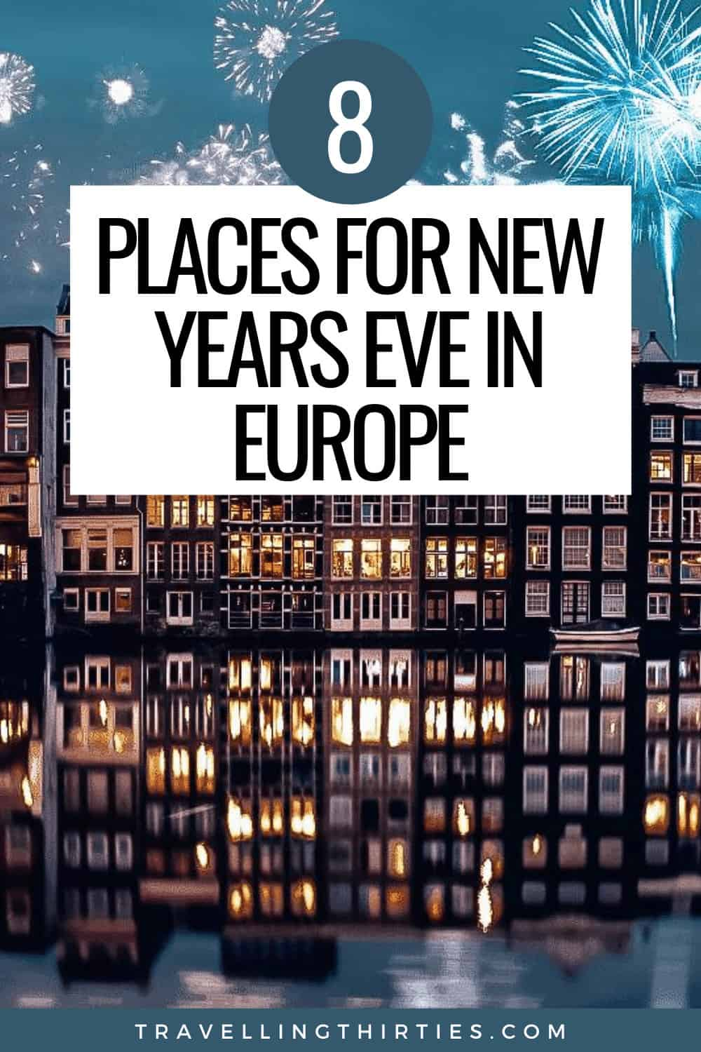 Pinterest Graphic for the best places to spend new years