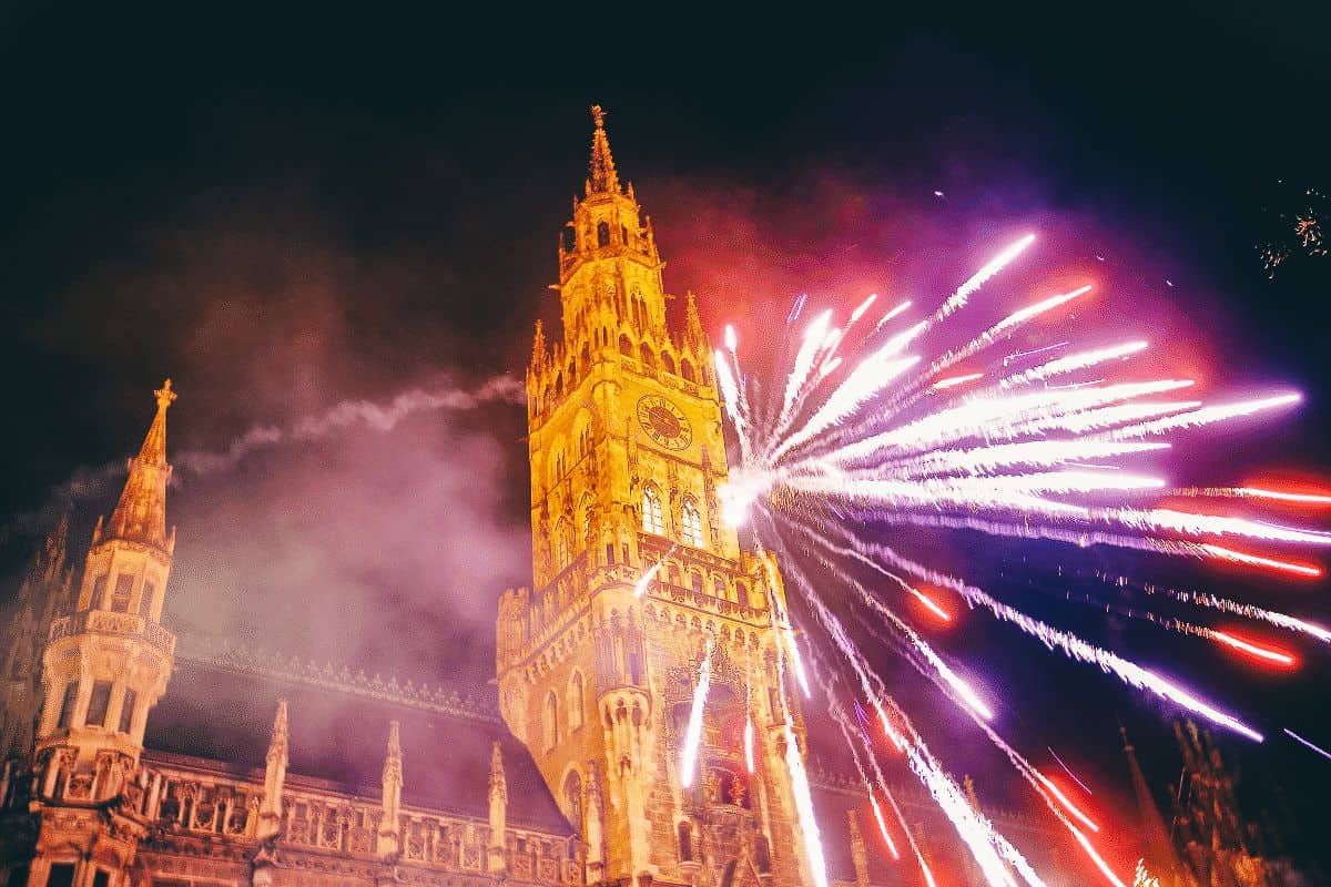Fireworks in Munich on New Years Eve