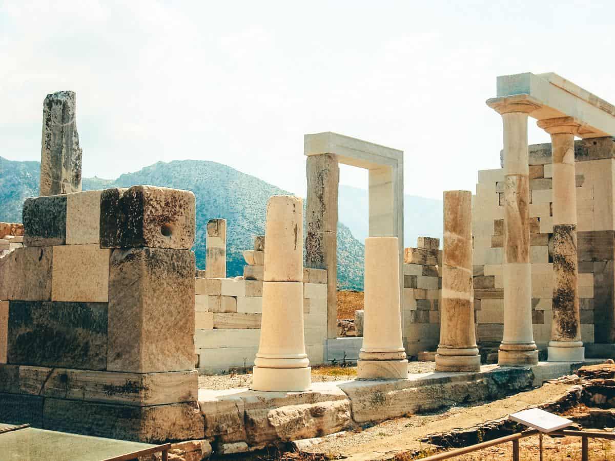 An ancient Greek ruins in Delos