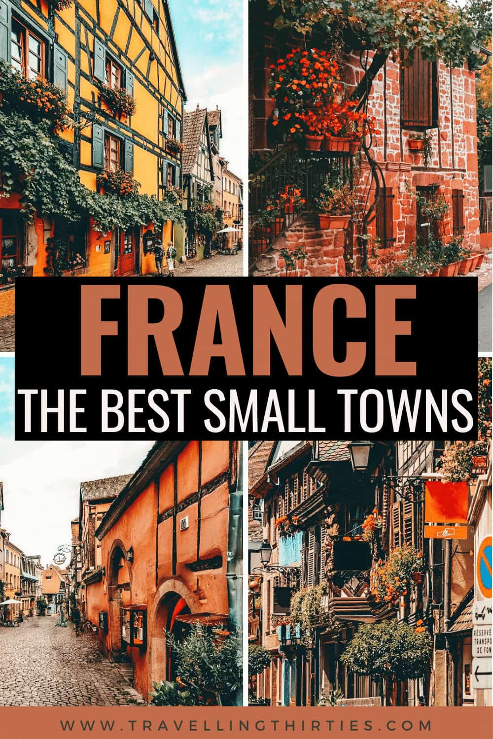 Pinterest Graphic for the best small towns in France