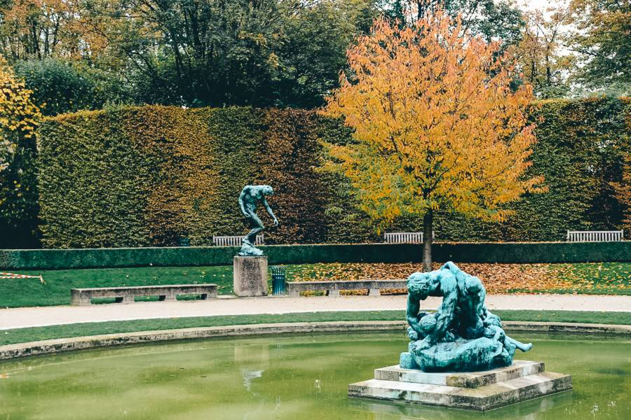 Autumn leaves at the Rodin Museum in Paris