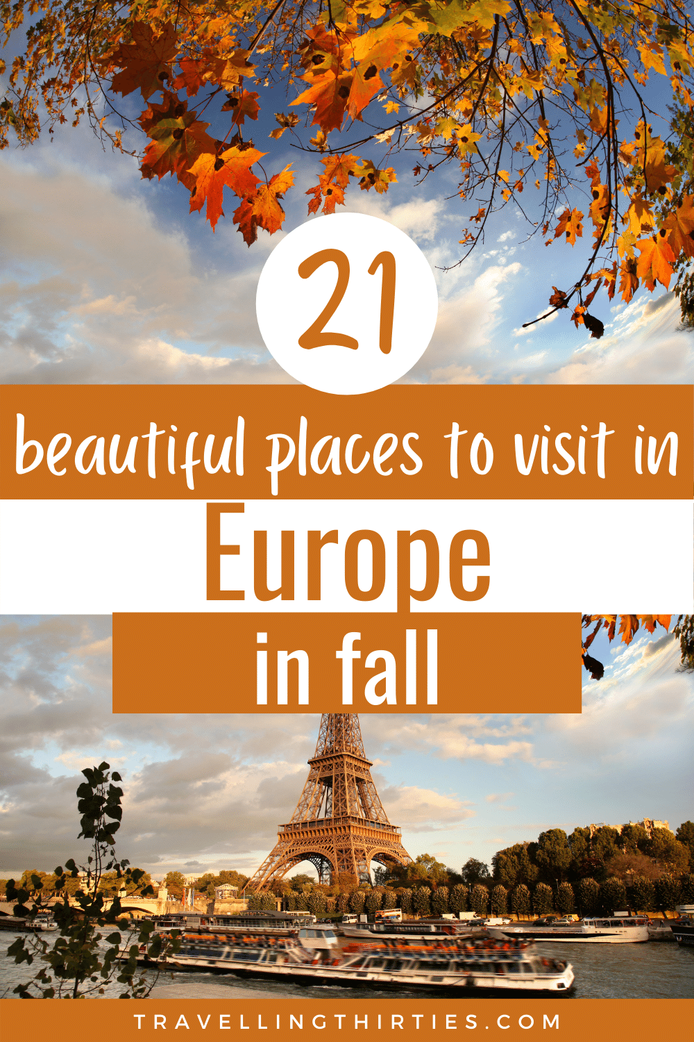 Pinterest Graphic for the best places to visit in October in Europe