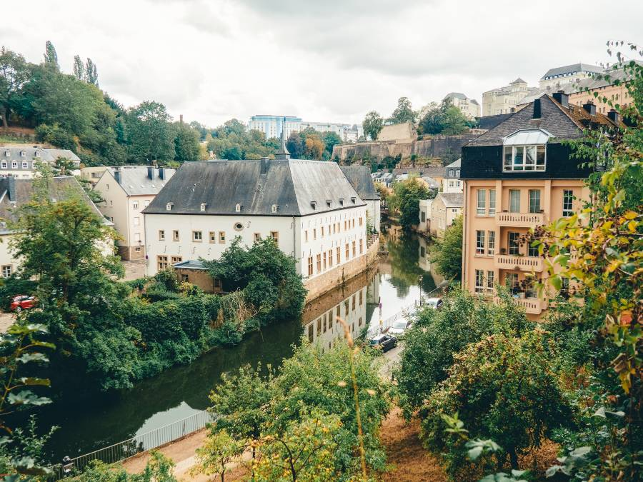 The river running through Luxembourg