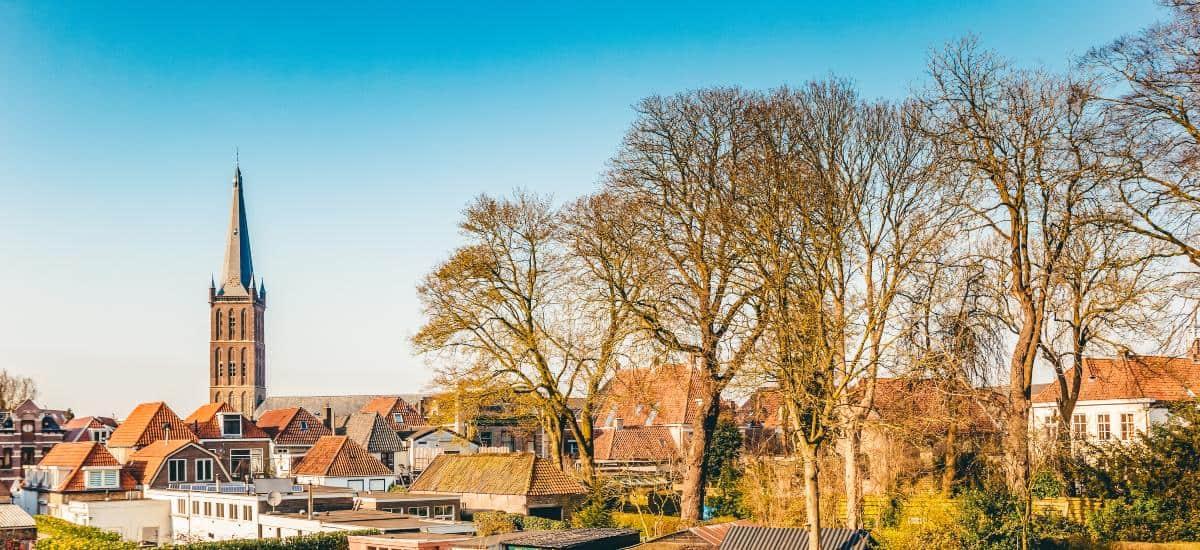 A photo of Steenwijk in winter