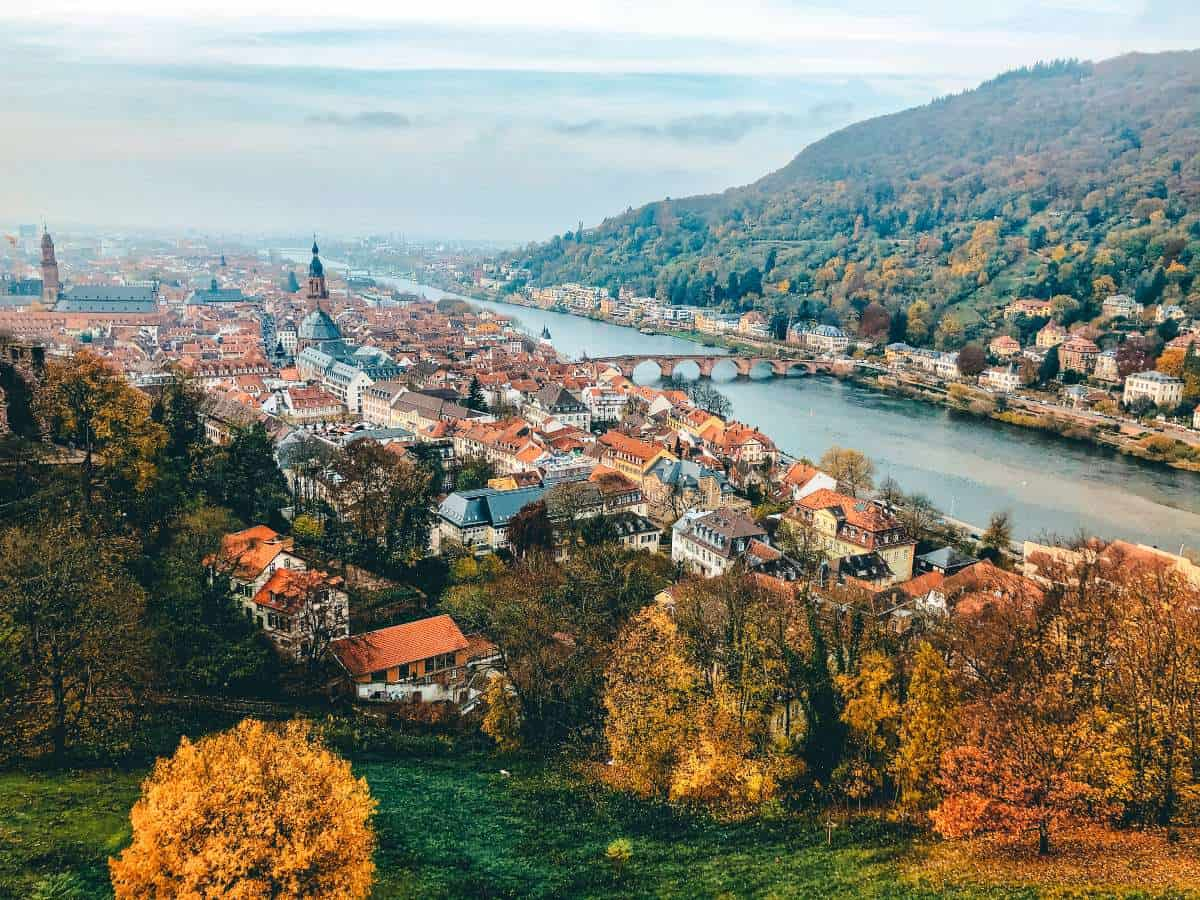 A view over Heidelberg city and the river